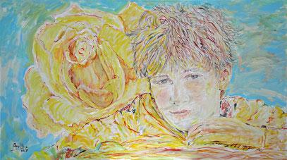 JUVENTUD, acrylique sur toile,, 160 x 90 cm, 2013