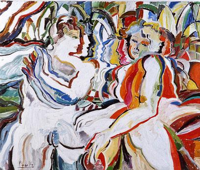 PRIMITIVOS RELATOS, huile sur toile, 120 x 100 cm, 1989