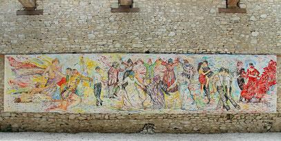 LA DANCE, acrylique sur toile, 10 m x 2.15 m, 2020