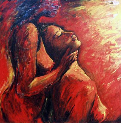 PUESTA DE SOL, acrylique sur toile, 100 x 100 cm, 2000