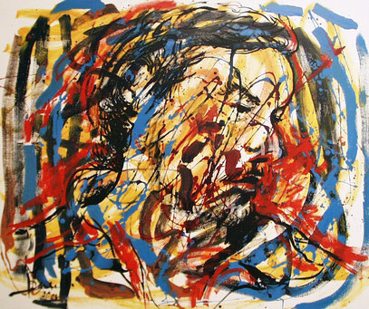 RESONANCIA, acrylique sur toile, 120 x 100 cm, 2000