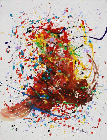 JOIE IMMENSE, acrylique sur toile, 89 x 116 cm, 2013