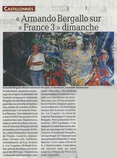 La Dépêche - 9 mars 2012