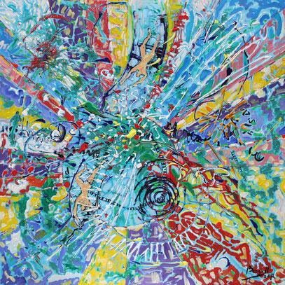 SE HACE CAMINO AL ANDAR, acrylique sur toile, 100 x 100 cm, 2012