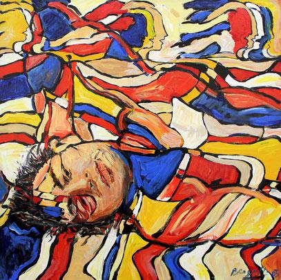 REPOSO, acrylique sur toile, 85 x 85 cm, 2005