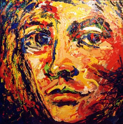 ROSTRO, acrylique sur toile, 100 x 100 cm, 1999