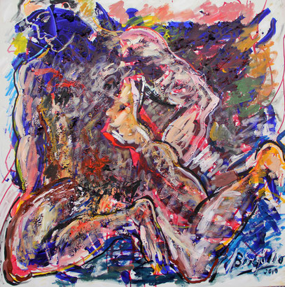 HERCULE, acrylique sur toile, 100 x 100 cm, 2010