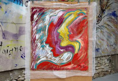 RITMO acrylique sur Papur, 65 x 65 cm, 2019