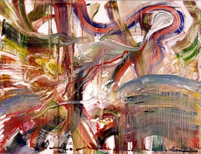 NOMADE, huile sur toile, 120 x 100 cm, 1992
