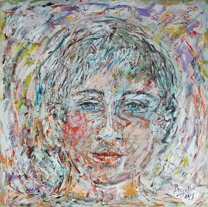 JUVENTUD, acrylique sur toile, 100 x 100 cm, 2019
