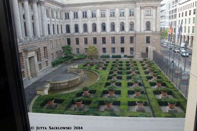 Blick aus dem Fenster des Bundesratspräsidenten