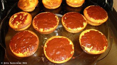 Muffins mit Schokoladengeheimnis
