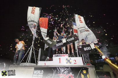 WSX Shanghai women's race podium