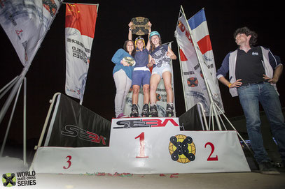 WSX World ranking women's podium