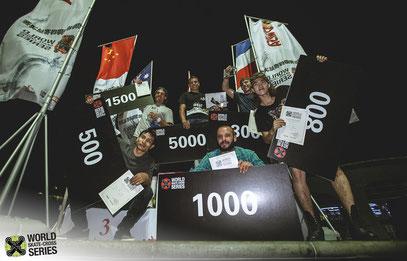 Shanghai WSX men's race podium