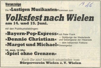 Grafschafter NAchrichten, 1986