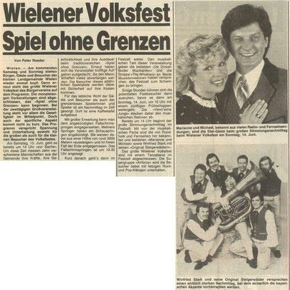 Zeitungsausschnitt, 1987