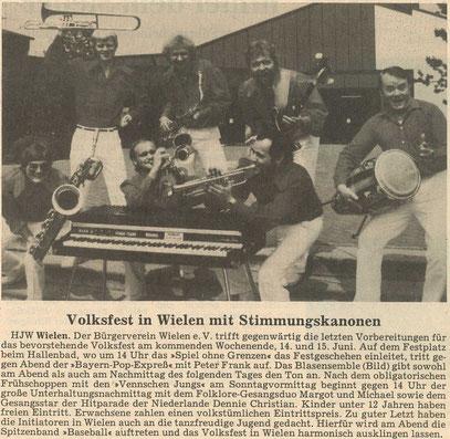 Zeitungsausschnitt, 1986