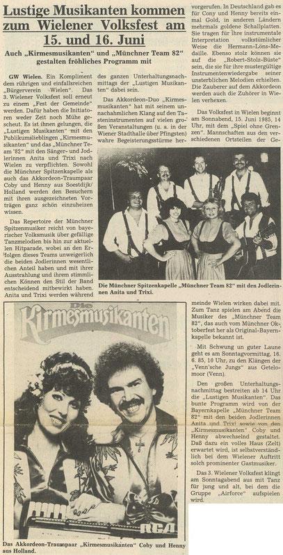 Grafschafter Wochenblatt, 12. Juni 1985