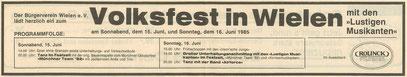 Grafschafter Nachrichten, 16. Juni 1985