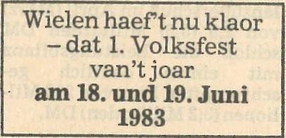 Zeitungsausschnitt, 1983