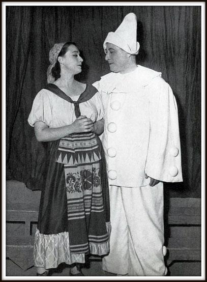 Canio in PAGLIACCI di Ruggero Leoncavallo con Christiane Castelli (Nedda) nella recida d'addio all'Opera-Comique 11.6.1953