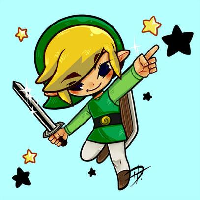 Illustration - Link (The Legend of Zelda - The Wind Waker - 2017)