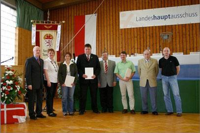 v.r.n.l. Marco Scharf, Gerhard Scharf und Matthias Diehl