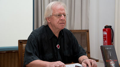 Marc Mandel bei einer Lesung auf der text&talk Düsseldorf am 7. September 2014 (Foto: Ellen Eckhardt)
