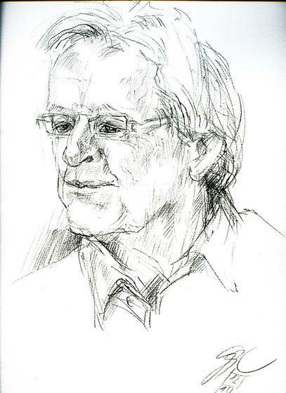 Marc Mandel am 12. Oktober 2014 - Zeichnung: Gudrun Cornford