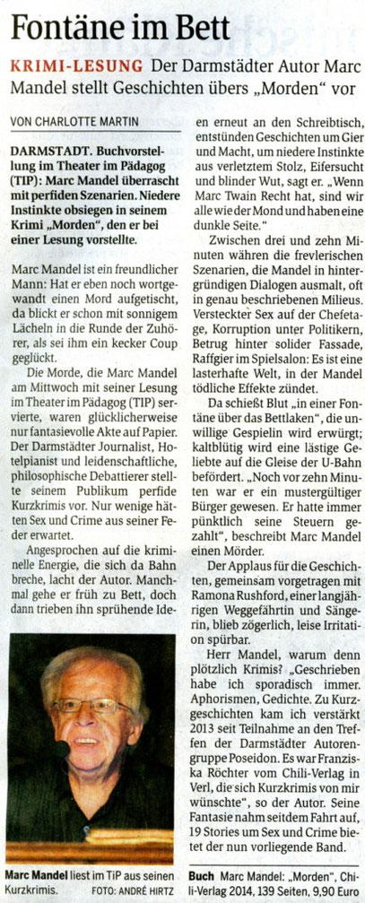 Charlotte Martin im Darmstädter Echo vom 18.7.2014