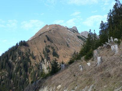 Die Rotwand von Südosten gesehen,beim Aufstieg zur Pfeilerspitze,dem Nachbargipfel.