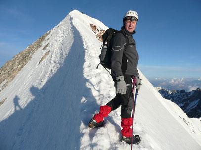 Ich am Gipfelgrat der Königsspitze 6/2013
