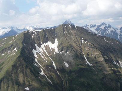 Üntschenspitze vom Starzeljoch gesehen
