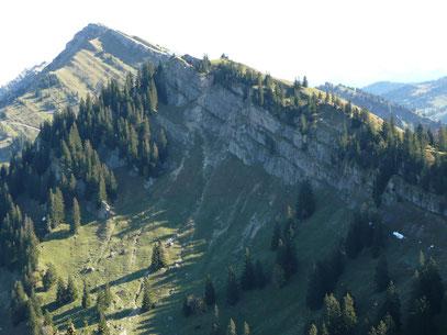 Hochgrat im Hintergrund und Seelekopf Nordseite