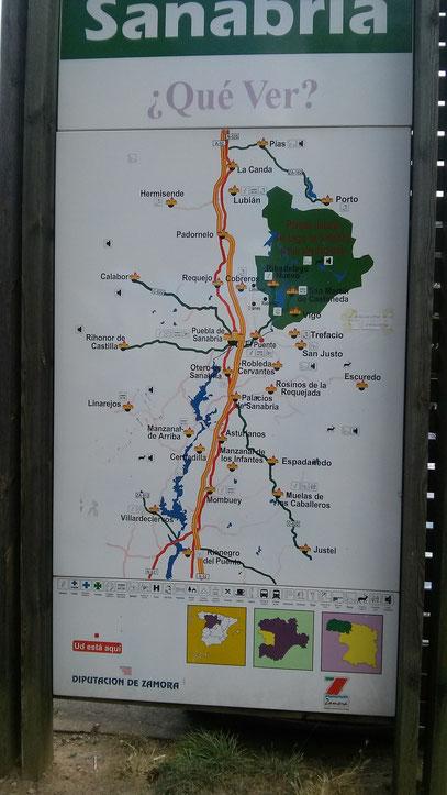 Mapa comarca Sanabria