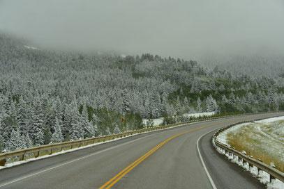 Wintereinbruch im Norden von Amerika