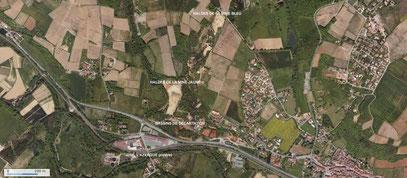 Vue aérienne du site de Chessy-les-Mines