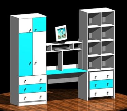 3D - CLOSET Y ESCRITORIO CATHERINE TAPIA