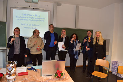 Serena Berghaus, Prof. Dr. Michael Borg-Laufs, Prof. Dr. Dieter Wälte, Deborah Gauert, Melanie Engler, Prof. Dr. Wilfried Gebhardt, Dr. Iris Schubert