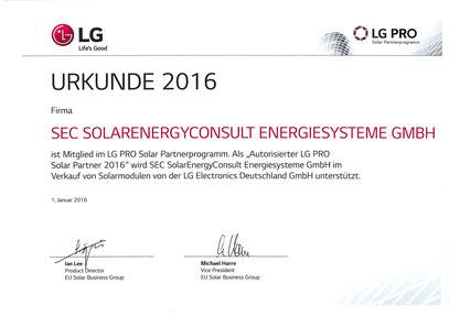 LG PRO Solar Partner 2016