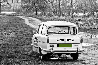 Dreiradauto aus den Siebzigern(England)