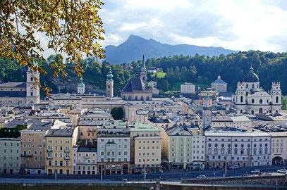 Blick vom Kapuzinerberg auf Salzburg