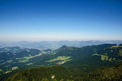 Blick Richtung Salzburger Land