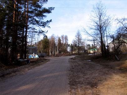 Главная улица Кицково - дорога Максютино-Родионово