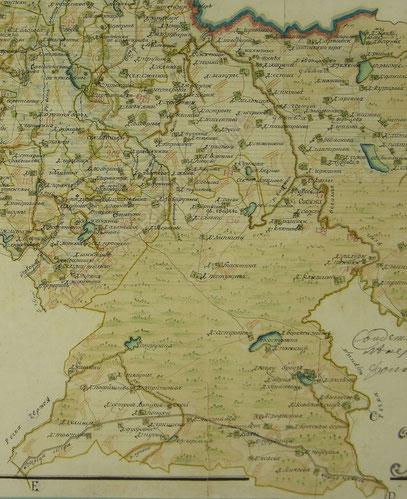 Карта Непоротовской волости 1798г.