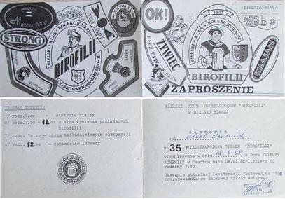 Zaproszenie na giełdę w Czechowicach Dziedzicach,1998 r. (wł.Dariusz Olech)