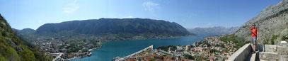 Herrlicher Blick auf Kotor