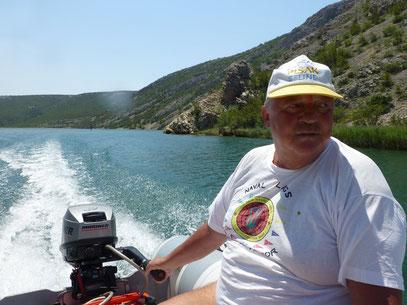 """Mein Kapitän """"Hermann"""" Fahrt in den Zrmanja Canyon bis zum Wasserfall"""