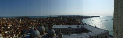 Venedig von oben Dogenpalast
